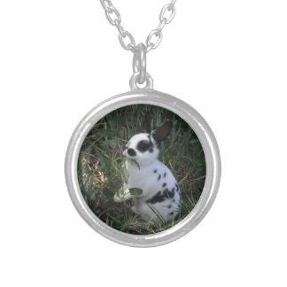 Eating Greens Silver Plated Necklace
