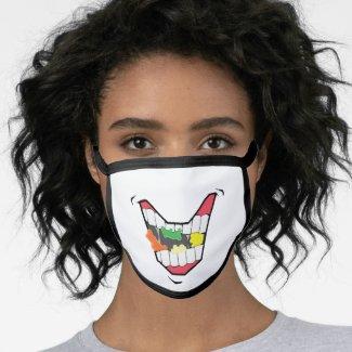 Eating Gummy Bears Face Mask