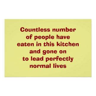 Eating in Kitchen Poster