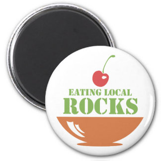 Eating Local Rocks 2 Inch Round Magnet
