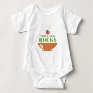 Eating Local Rocks Baby Bodysuit