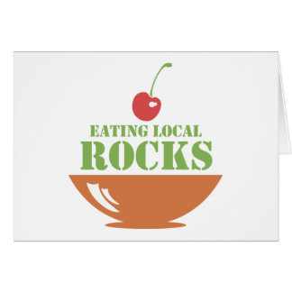 Eating Local Rocks Card