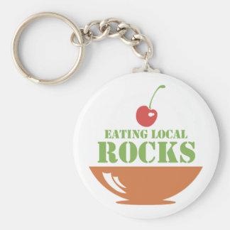 Eating Local Rocks Basic Round Button Keychain