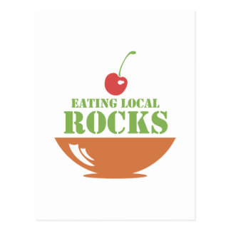Eating Local Rocks Postcard