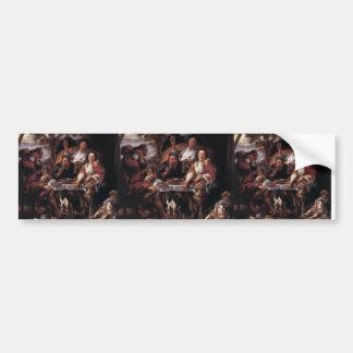 Eating Man by Jacob Jordaens Bumper Stickers