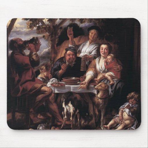 Eating Man by Jacob Jordaens Mousepads