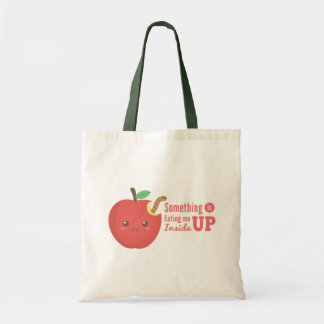 Eating me up inside Cute Red Apple with Worm Tote