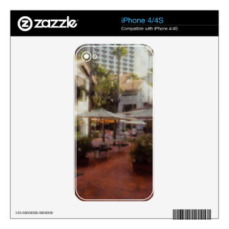 Eating Outdoors in a restaurant Decal For The iPhone 4S