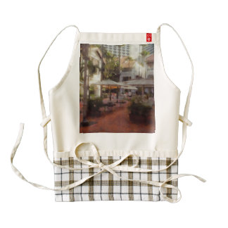 Eating Outdoors in a restaurant Zazzle HEART Apron