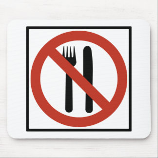 Eating Prohibited Highway Sign Mouse Pad