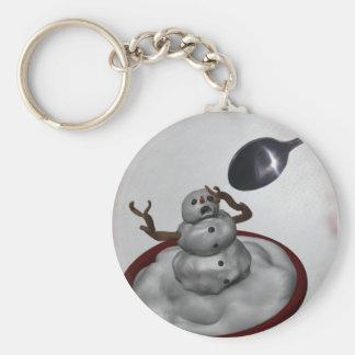 Eating Snowman Keychain
