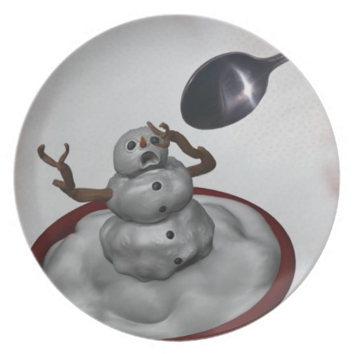 Eating Snowman Plate