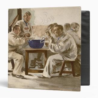 Eating Soup at the Barracks, from 'L'Estampe Moder Binder