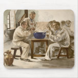 Eating Soup at the Barracks, from 'L'Estampe Moder Mouse Pad