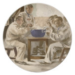 Eating Soup at the Barracks, from 'L'Estampe Moder Plate