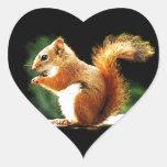 Eating Squirrel Heart Sticker