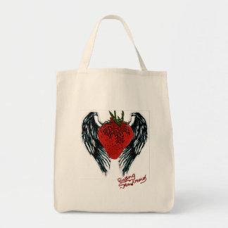 eating strawberries - Copy Tote Bag