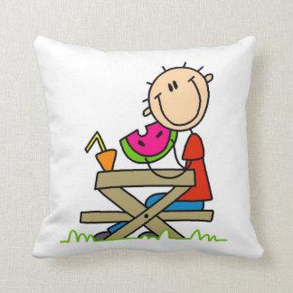 Eating Watermelon Throw Pillows