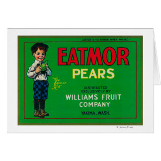 Eatmor Pear Crate LabelYakima, WA Greeting Cards