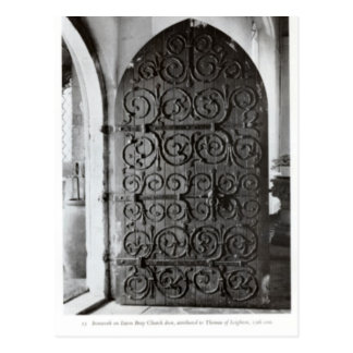 Eaton Bray, Church door Postcard