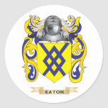 Eaton Coat of Arms Round Stickers
