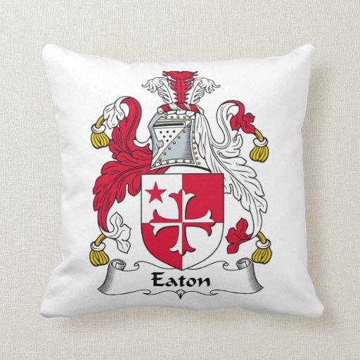 Eaton Family Crest Throw Pillow
