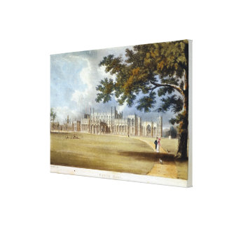 Eaton Hall, Entrance Front, from Ackermann's 'Repo Canvas Print