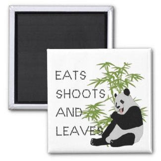Eats Shoots and Leaves magnet
