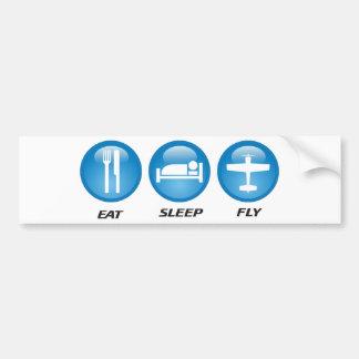 eatsleepfly bumper sticker