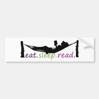 eatsleepread bumper sticker