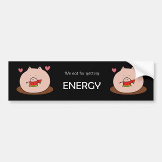 Eatting para la energía pegatina para auto