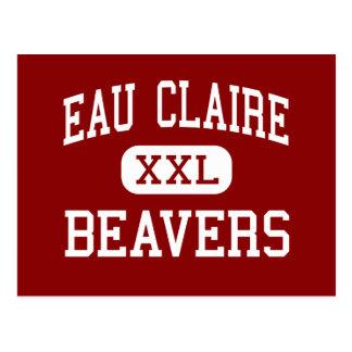 Eau Claire - Beavers - High - Eau Claire Michigan Postcard