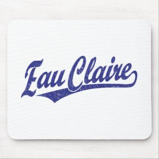 Eau Claire script logo in blue Mouse Pad