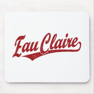 Eau Claire script logo in red Mouse Pad