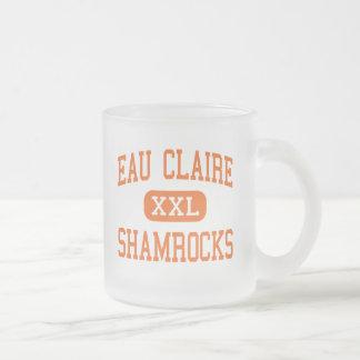 Eau Claire - Shamrocks - High - Columbia 10 Oz Frosted Glass Coffee Mug