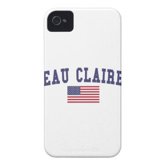Eau Claire US Flag iPhone 4 Case