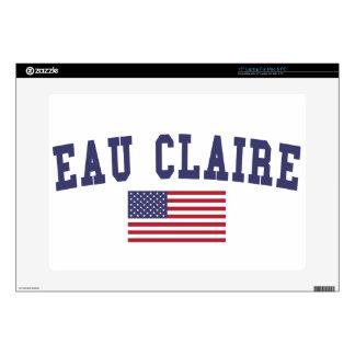Eau Claire US Flag Laptop Skins