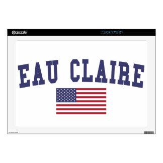 """Eau Claire US Flag Skin For 17"""" Laptop"""