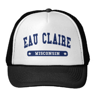 Eau Claire Wisconsin College Style tee shirts Trucker Hat