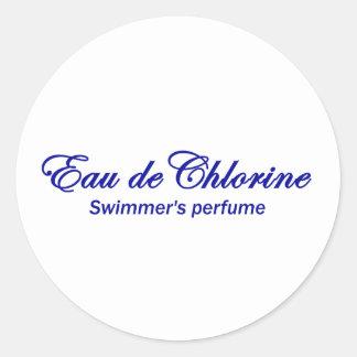 Eau de Chlorine Classic Round Sticker