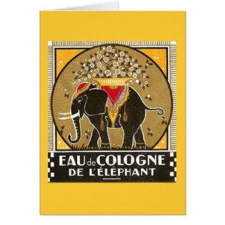 Eau de Cologne de l'elephant Greeting Card