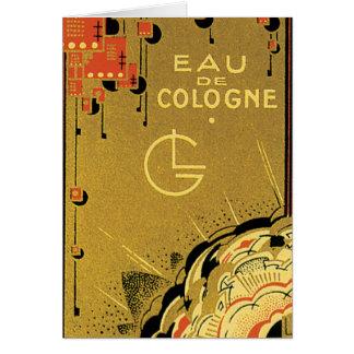 Eau De Cologne Gold Greeting Card