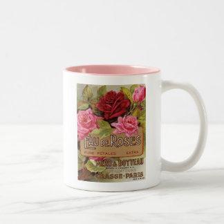 Eau De Roses French Scent Two-Tone Coffee Mug