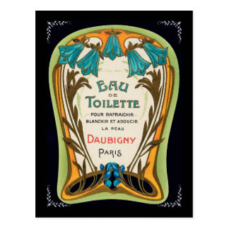 Eau de Toilette Doubigny Paris Postcard