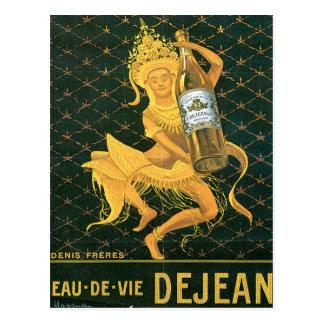 Eau De Vie Dejean Vintage Wine Drink Ad Art Postcard