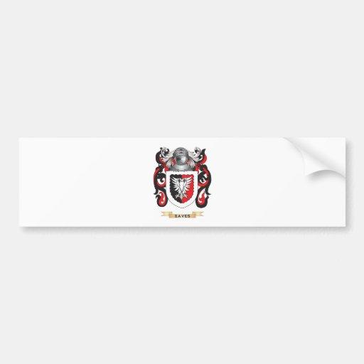 Eaves Coat of Arms Car Bumper Sticker