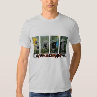 Eavesdrops 4panel stripey logo cctp back print dresses
