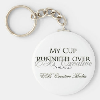 EB Creative Media - My Cup Runneth Over Keychain