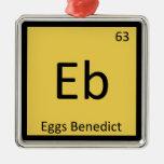 Eb - Eggs Benedict Chemistry Periodic Table Symbol Christmas Tree Ornament