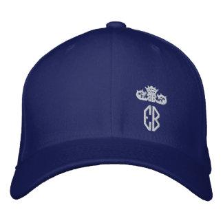 EB - English Bulldog C Blue Embroidered Baseball Hat